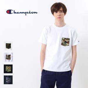 チャンピオン Champion ポケット Tシャツ 迷彩 リバースウィーブ 半袖 カモ柄 トップス クルーネック カットソー C3-B369 elva