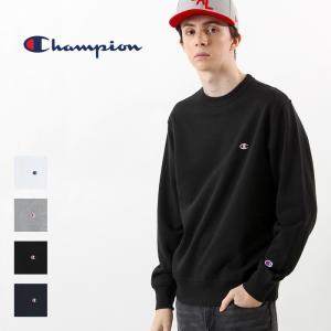 チャンピオン Champion スウェット トレーナー ベーシック ワンポイント 刺繍 ロゴ トップス クルーネック C3-C019|elva