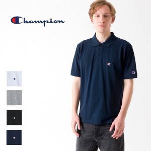 チャンピオン Champion ポロシャツ 鹿の子 半袖 ベーシック ロゴ  ポロ Tシャツ トップス  C3-F356|elva