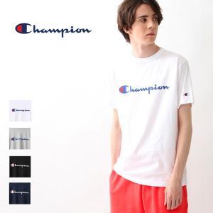 チャンピオン Champion  Tシャツ 半袖 ベーシック ロゴ  プリント クルーネック カットソー メンズ レディース C3-P302 elva