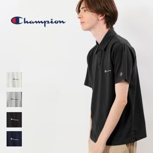 チャンピオン Champion ポロシャツ 半袖 ベーシック 刺繍 ロゴ  ポロ Tシャツトップス カットソー C3-P306 elva