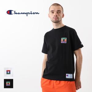 チャンピオン Champion 半袖 Tシャツ Cロゴ トップス 刺繍 バックプリント クルーネック カットソー C3-Q302|elva