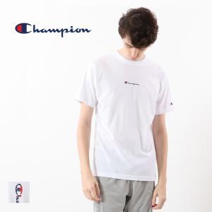 チャンピオン Champion 半袖 Tシャツ Cロゴ トップス 刺繍 バックプリント クルーネック カットソー C3-RS309|elva
