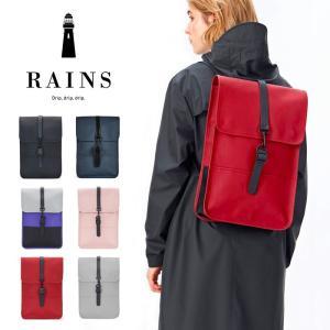 デンマーク発のレインウェアブランド RAINSの人気モデルであるバックパックを一回り小さく作られたバ...