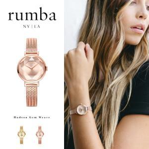 ルンバタイム Rumba Time 腕時計 レディース Hudson Gem Weave ゴールド ニューヨーク おしゃれ ファッション ブレスレット バンド 27501  27518 国内正規販売店|elva