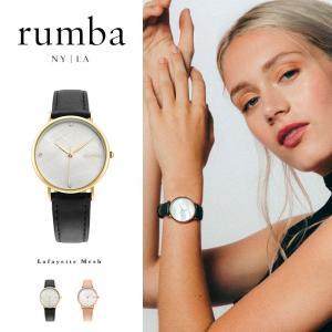 ルンバタイム Rumba Time 腕時計 レディース Lafayette Leather レザー ブラック ピンク ニューヨーク おしゃれ ブレスレット 27730 27747 国内正規販売店|elva