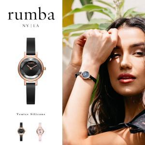 ルンバタイム Rumba Time 腕時計 レディース Venice Silicone ブラック ゴールド ニューヨーク おしゃれ ブレスレット 27051  27068 国内正規販売店|elva