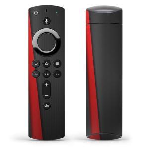 Fire TV Stick 第2世代 ファイヤー tv スティック リモコン専用スキンシール  赤 レッド 黒 ブラック ライン 008225|emart