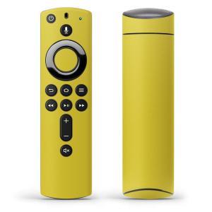 Fire TV Stick 第2世代 ファイヤー tv スティック リモコン専用スキンシール  シンプル 無地 黄色 008966|emart