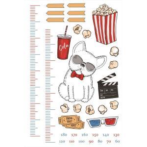 ウォールステッカー 身長計 記念 目盛り 映画 犬 カラフル 90×60cm シール式 装飾 おしゃ...