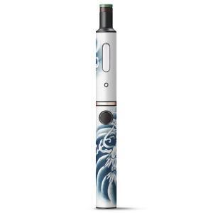 プルームテック ploom tech + Plus プラス 専用 デザインスキンシール フィルム ステッカー アクセサリー 電子たばこ 龍 ドラゴン 和 001218|emart