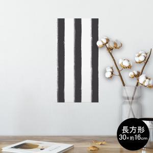 ポスター ウォールステッカー 長方形 シール式 飾り 30×16cm Ssize 壁 おしゃれ wa...