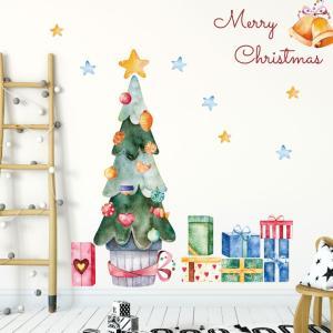 ウォールステッカー クリスマス Christmas 飾り 90×90cm Lsize シール式 装飾 オーナメント ツリー リース 2018 xmas Xmas 015034