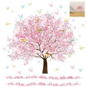 ウォールステッカー ひなまつり 雛祭り お雛様 春 梅 桜 桃の節句 60×60cm シール式 装飾...