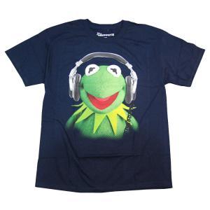 KERMIT カーミット オフィシャルライセンス Tシャツ ネイビー kermit-tee
