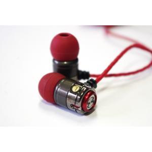 ティーぺオスT-PEOS BAGUETTE  バゲットレッド赤  ダイナミックドライバーイヤホン|eme-audio-store