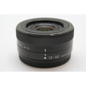 【中古】 【並品】 パナソニック LUMIX G VARIO 12-32mm F3.5-5.6 ASPH. MEGA O.I.S. [H-FS12032] ブラック|emedama