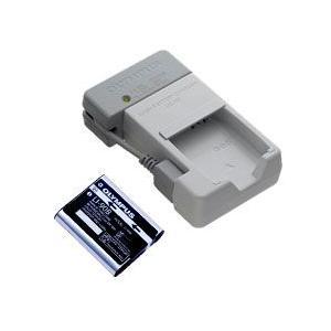オリンパス リチウムイオン充電池(LI-90B)+充電器(U...