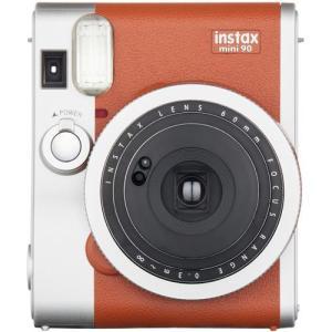 フジフイルム インスタントカメラ instax mini 90 「チェキ」 ネオクラシック ブラウン|emedama