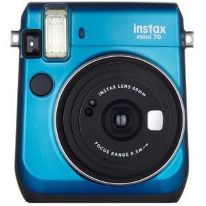 【あすつく】 フジフイルム インスタントカメラ instax mini 70 「チェキ」 ブルー|emedama
