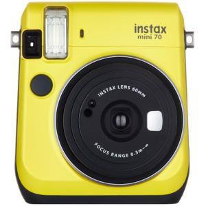 フジフイルム インスタントカメラ instax mini 70 「チェキ」 イエロー|emedama