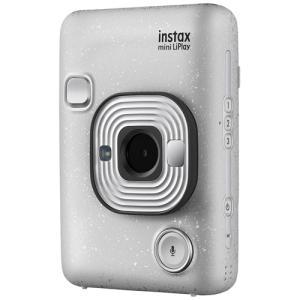 フジフイルム ハイブリッド インスタントカメラ instax mini LiPlay ストーンホワイ...