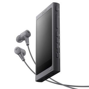 ソニー ウォークマン [ヘッドホン付属モデル] NW-A46HN BM グレイッシュブラック [32GB]|emedama