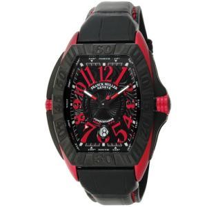 【60回無金利】 フランクミュラー メンズ腕時計 コンキスタドールグランプリ 8900SC DT GPG ERG ブラックレザーベルト