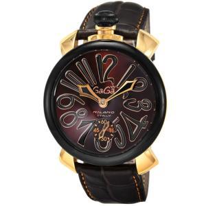 【36回無金利】 ガガミラノ メンズ腕時計 MANUALE48MM 5014.02S-BRW emedama
