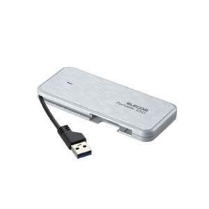 エレコム 外付けSSD ポータブル ESD-ECA1000GWHR 1TB ホワイト