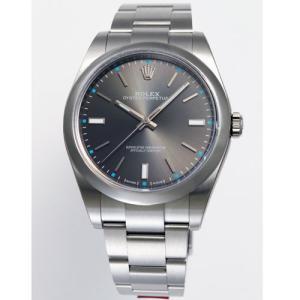 【36回無金利】 ロレックス メンズ腕時計 オイスターパーペチュアル  114300ダークロジウム|emedama