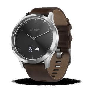 ガーミン 腕時計 vivomove HR 010-01850-74 ブラックシルバーレザー の商品画像 ナビ
