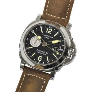 【60回無金利】 パネライ メンズ腕時計 ルミノール GMT アッチャイオ PAM01088|emedama