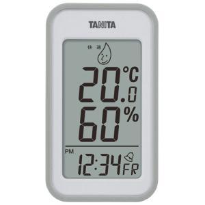 タニタ デジタル温湿度計 TT-559-GY グレー