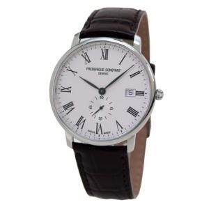 フレデリック・コンスタント メンズ腕時計 スリムライン FC245WR5S6DBR ベルト:ダークブ...
