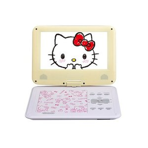 AVOX 9インチ ポータブルDVDプレーヤー ハローキティモデル HELLO KITTY ADP-9030MKTY-Y イエロー|emedama