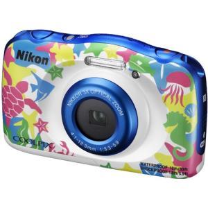[あすつく][送料無料][`nikon`クールピクス`ニコンCOOLPIXW100マリン`防水カメラ...