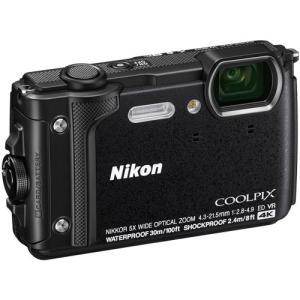 [あすつく][送料無料][`nikon`クールピクス`ニコンCOOLPIXW300ブラック`防水カメ...