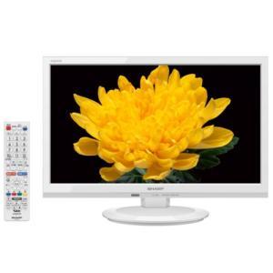 シャープ 19V型 液晶テレビ AQUOS LC-19P5-W ホワイト系|emedama