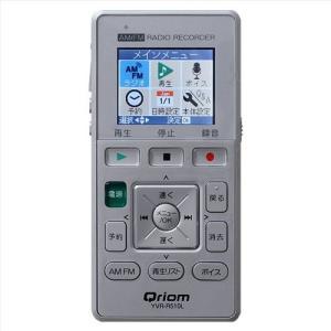 YAMAZEN キュリオム AM/FMラジオ録音機能付きICレコーダー YVR-R510L