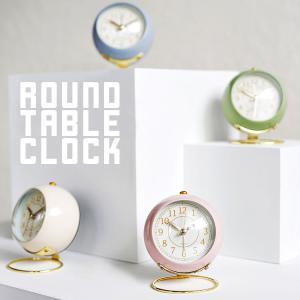 置き時計 目覚まし時計 置時計 オシャレ おしゃれ 北欧 小さい かわいい 女の子 リビング アラームクロック アナログ 時計 バックライト 電池式 光る アラーム emi-direct