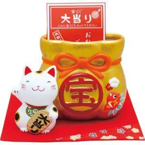 招き猫宝くじ入れ 018-0226(17-0076-564)