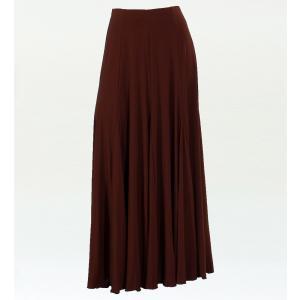 フラメンコ 無地 ファルダ スカート ブラウン フリーサイズ 1169
