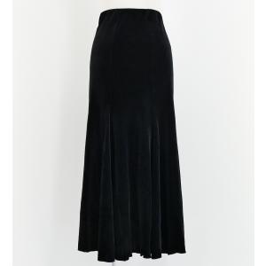 フラメンコ ベルベット マーメード ファルダ スカート ブラック 1319bF|emika