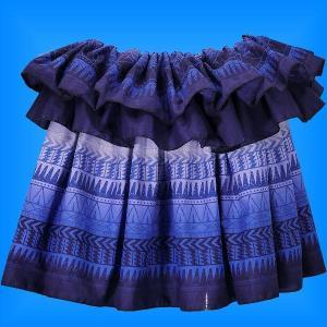 タヒチアン スカート 45cm丈 パープル 2137|emika