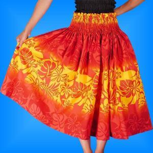 フラダンス衣装パウスカート78cm丈 2252|emika