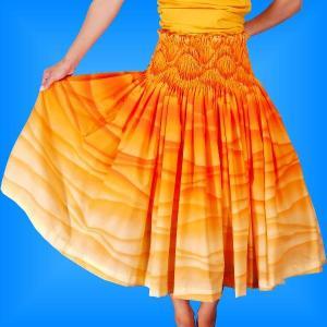 フラダンス衣装パウスカート78cm丈 2296|emika
