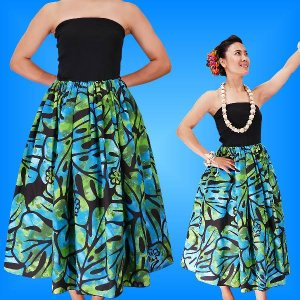 フラダンス チューブトップドレス ブラック×グリーン Fサイズ 2336bgF|emika