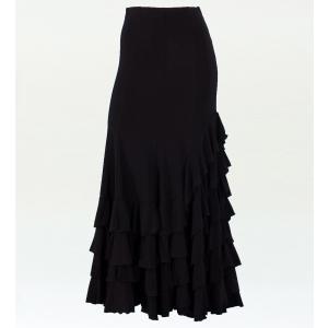 フラメンコ マーメード フリルファルダ スカート ブラック フリーサイズ 2354b emika