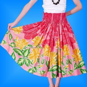 フラダンス衣装パウスカート78cm丈 2365|emika